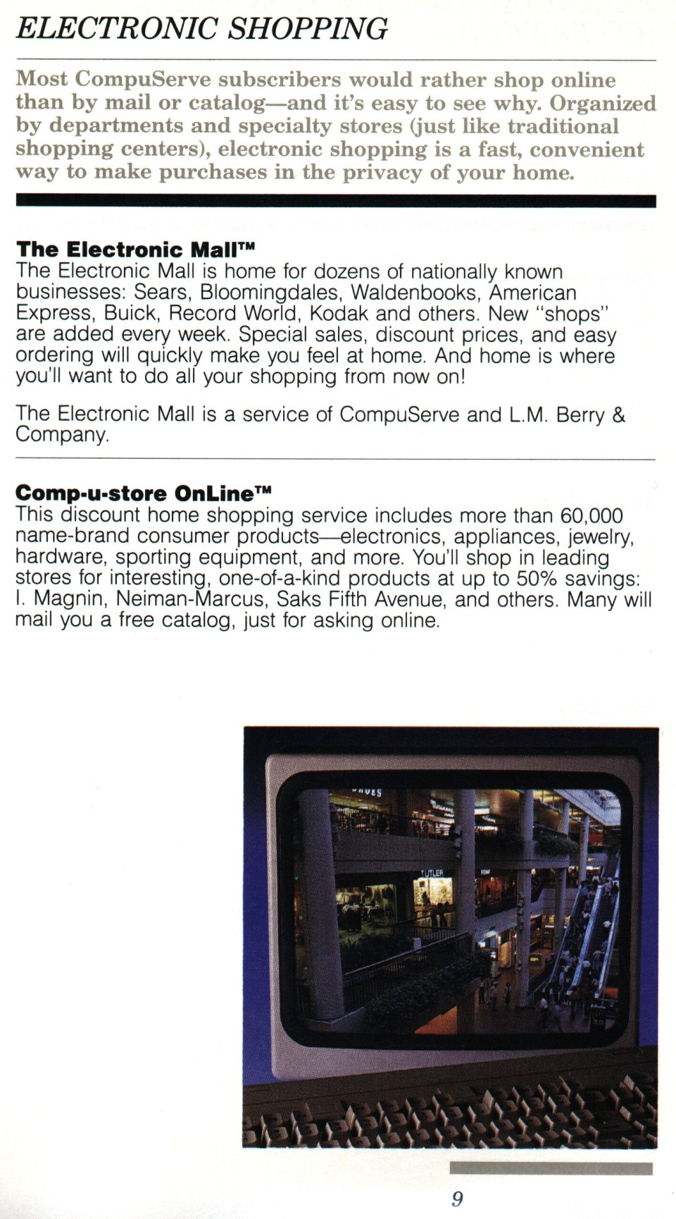 [CompuServe IntroPak page 9/44  Electronic Shopping]