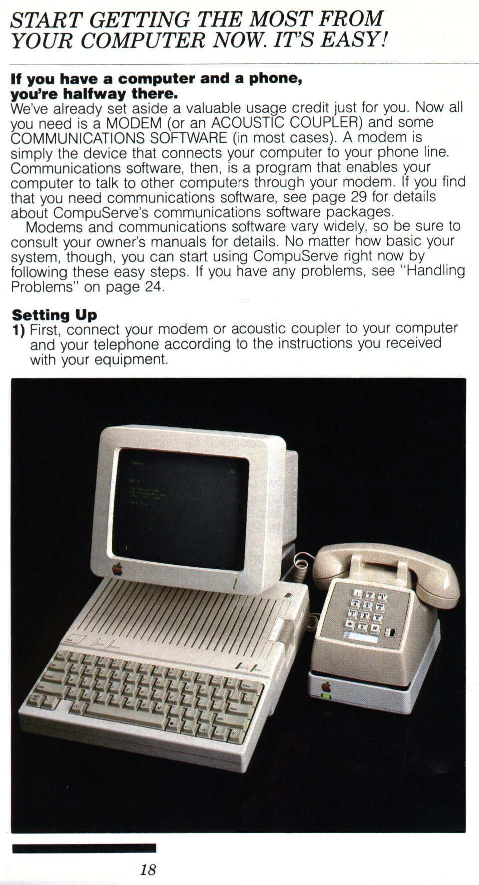 [CompuServe IntroPak page 18/44  Start Getting the Most from Your Computer Now, It's Easy! (1/6)]