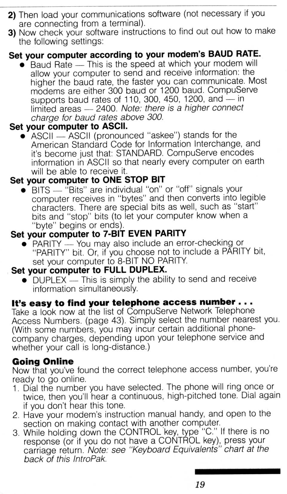 [CompuServe IntroPak page 19/44  Start Getting the Most from Your Computer Now, It's Easy! (2/6)]