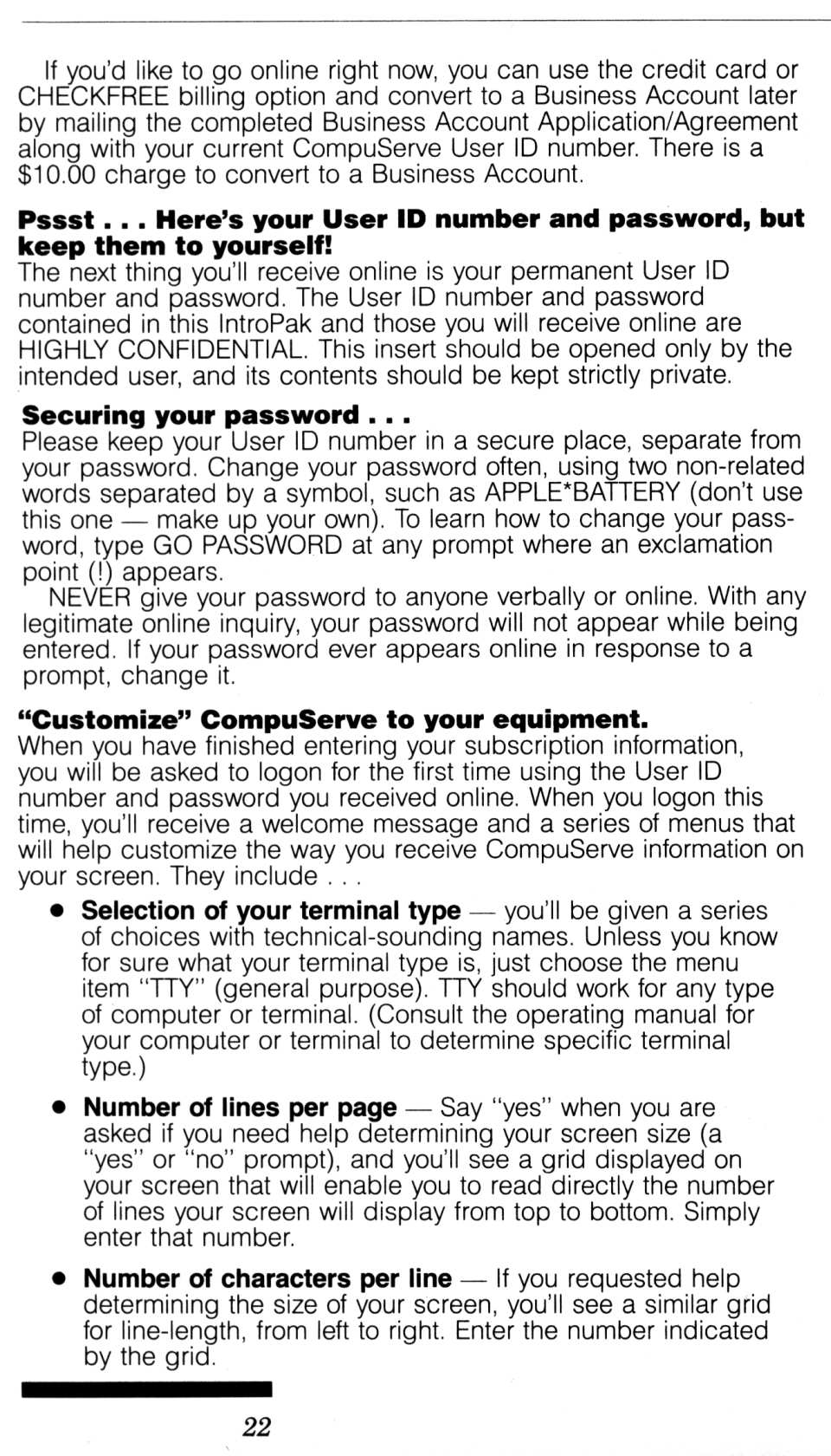 [CompuServe IntroPak page 22/44  Start Getting the Most from Your Computer Now, It's Easy! (5/6)]