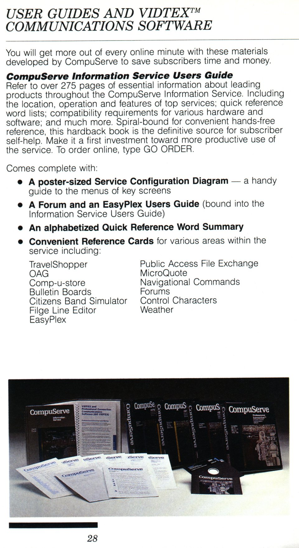 [CompuServe IntroPak page 28/44  User Guides and VIDTEX Communications Software (1/2)]